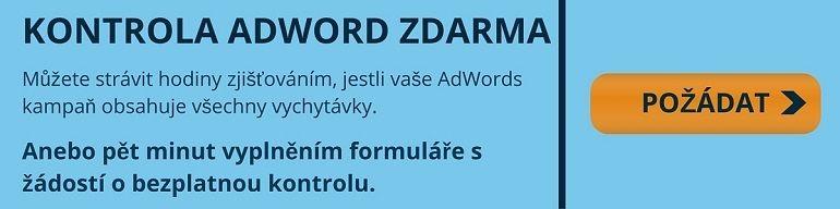 bezplatná kontrola adwords