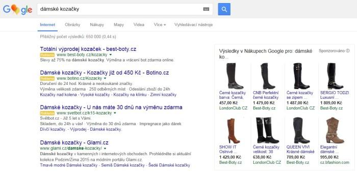 google vyhledavani kozacky