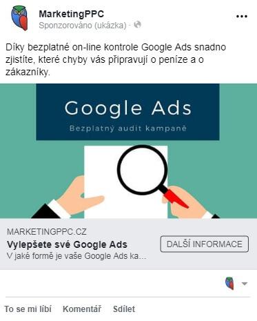 reklama ve vybraných příspěvcích na mobilu