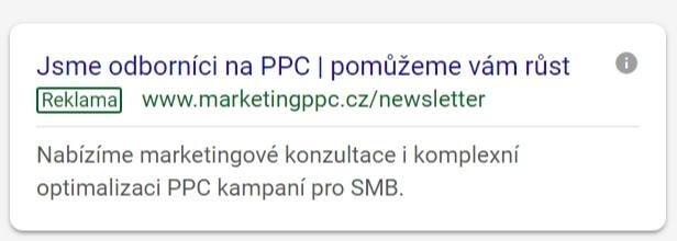 priklad google reklamy