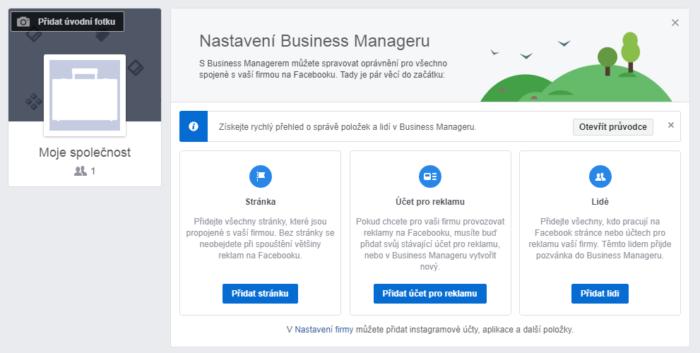 Facebook Business Manager prehled
