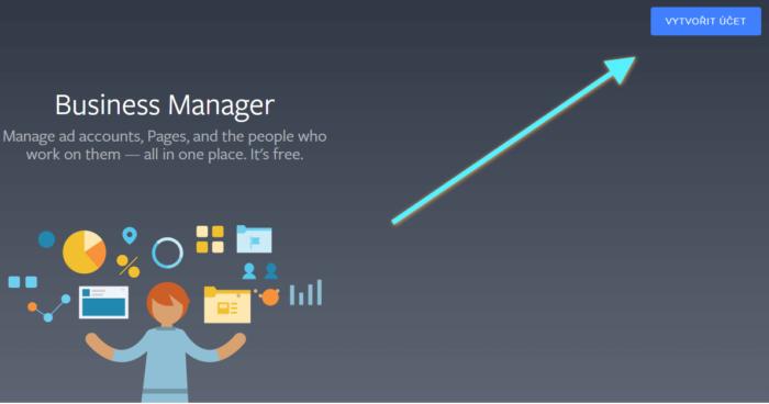 business manager vytvorit ucet