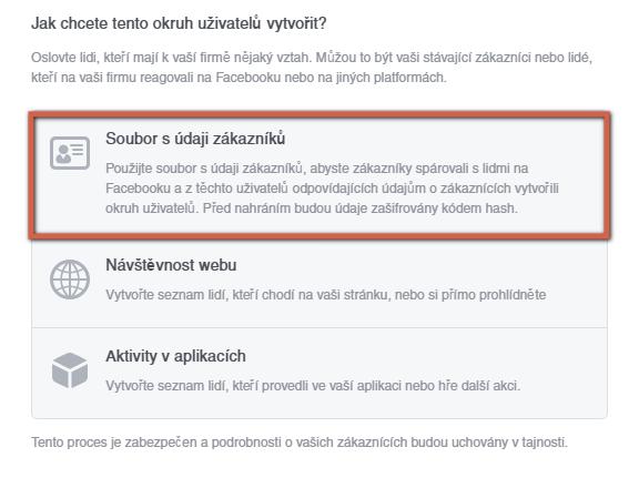 facebook import zakazniku