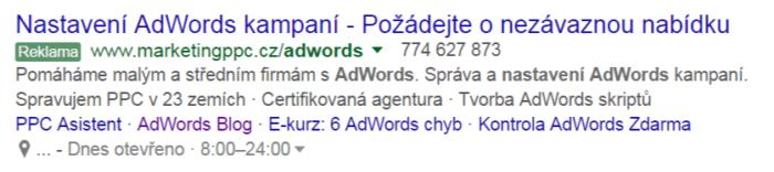 adwords reklama ve vyhledávání