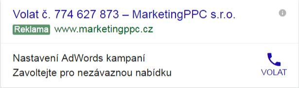 reklamy pouze volání