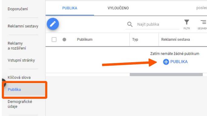 přidání google publik