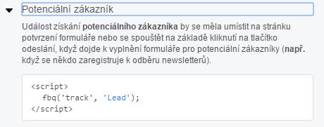 facebook lead event