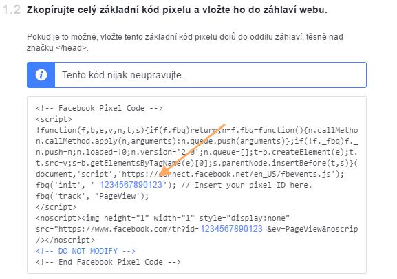 id facebook pixelu