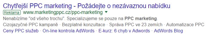 reklama ve vyhledavani