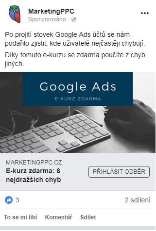 obrázková facebook reklama