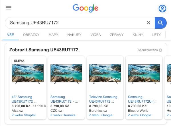 google nakupy reklama