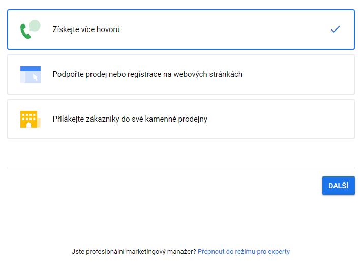 založení google kampaně